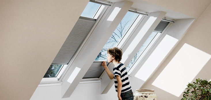 Velux window blinds shutters from red rose blinds for Velux window shades