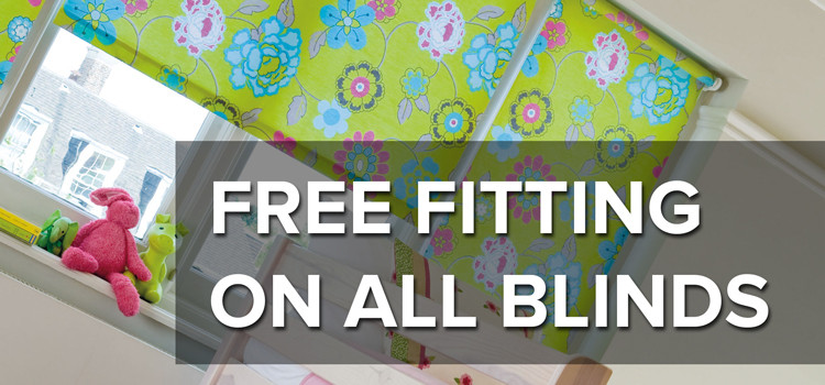 FREE FITTING on all Made To Measure Blinds