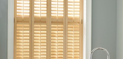 Natural Bathroom Shutters